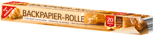 Backpapier-Rolle