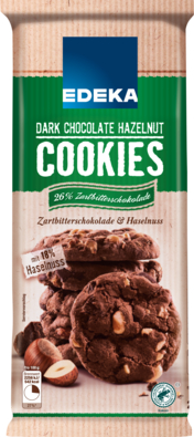 Dark Chocolate & Hazelnut Cookies