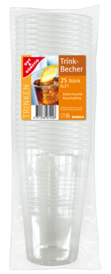 Trinkbecher 0,2 l transparent