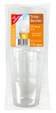Trinkbecher 0,3 l transparent