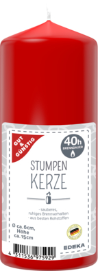 Stumpenkerze 150/60 mm, rot