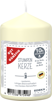 Stumpenkerze 80/50 mm, creme