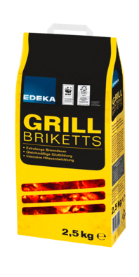 Grill Holzkohle Briketts, 2,5 kg