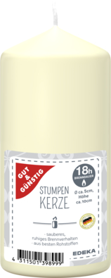 Stumpenkerze 100/50 mm, creme