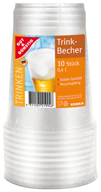 Becher transparent
