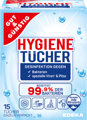 Hygienetücher in Sachets