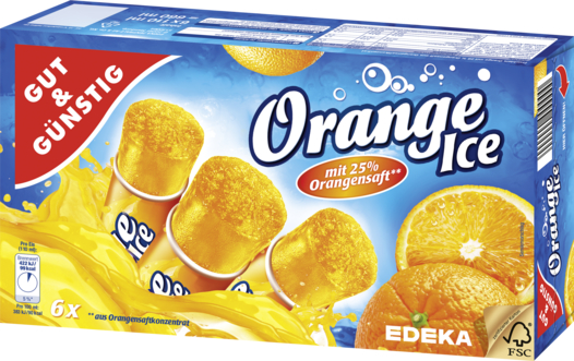 Orange-Ice, 6 Stück