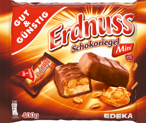 Mini-Erdnuss-Schokoriegel