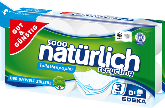 Toilettenpapier recycling 8er