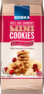 Mini Cookies White Choc Cranberry