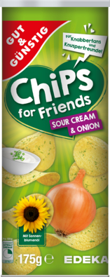 Sour Cream&Onion-Stapelchips