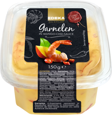 Garnelen in Mango-Chili-Sauce