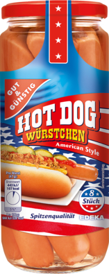 8 Hot Dog Würstchen