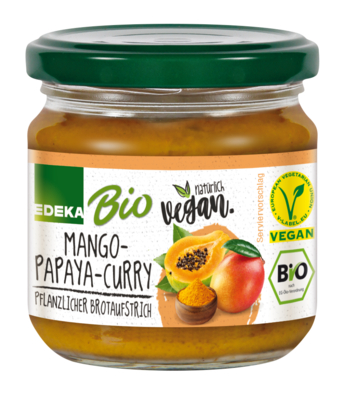 Streichcreme Mango-Papaya-Curry