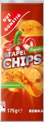 Paprika-Stapelchips