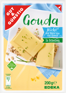 Gouda mild in Scheiben 17% Fett absolut