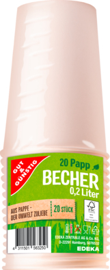 Picknick-Becher 0,2 l